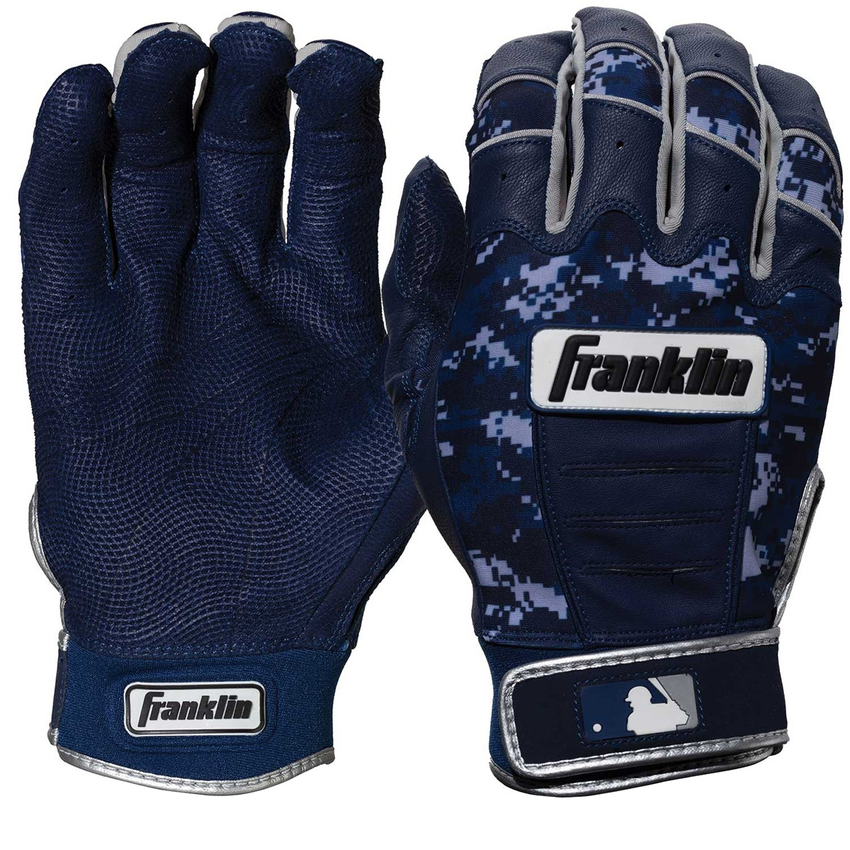 Franklin Youth CFX Pro: Digi Series MLB Batting Gloves - Navy/Navy Digi Camo