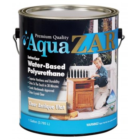 United Gilsonite 34413 1 Gallon Clear Antique Flat Aqua Zar Based Poly