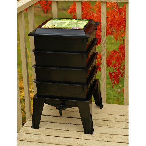 The Worm Factory® 360 Recycled Plastic Worm Composter - Black