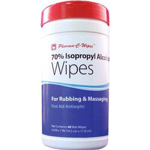 Pharma-C-Wipes 70% Isopropyl Alcohol Wipes One Canister 4 Pack