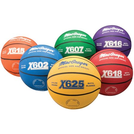 "MacGregor Multi-Color Indoor/ Outdoor Junior Basketball, Youth Size (27.5"")"