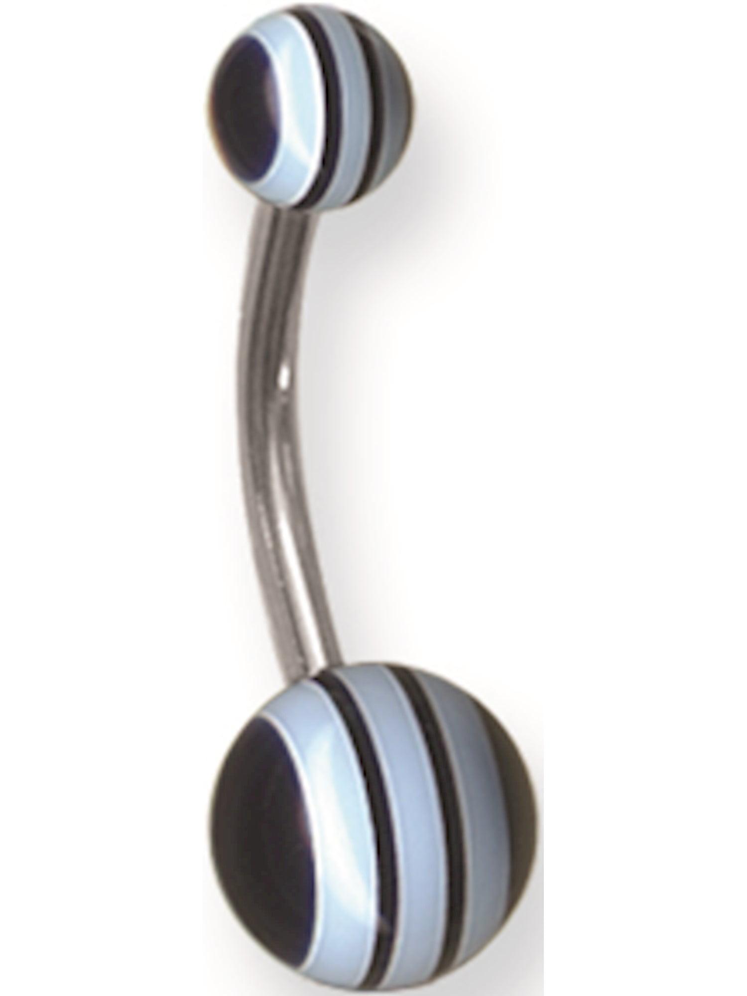 12mm 7//16 Dia w 4mm Balls Cobalt B Jewelry by Sweet Pea Solid Titanium Circ BB 14G 1.6mm