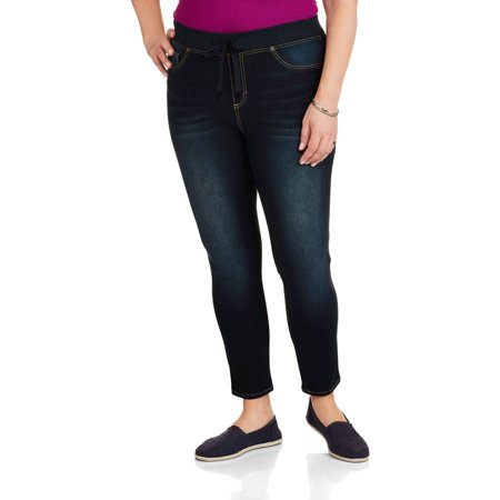 ddf9d98de601d0 Faded Glory - Women's Plus-Size French Terry Jean - Walmart.com