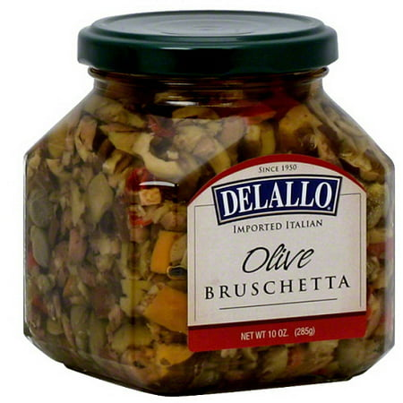 Mediterranean Bruschetta (DeLallo Olive Bruschetta, 10 oz, (Pack of 6))
