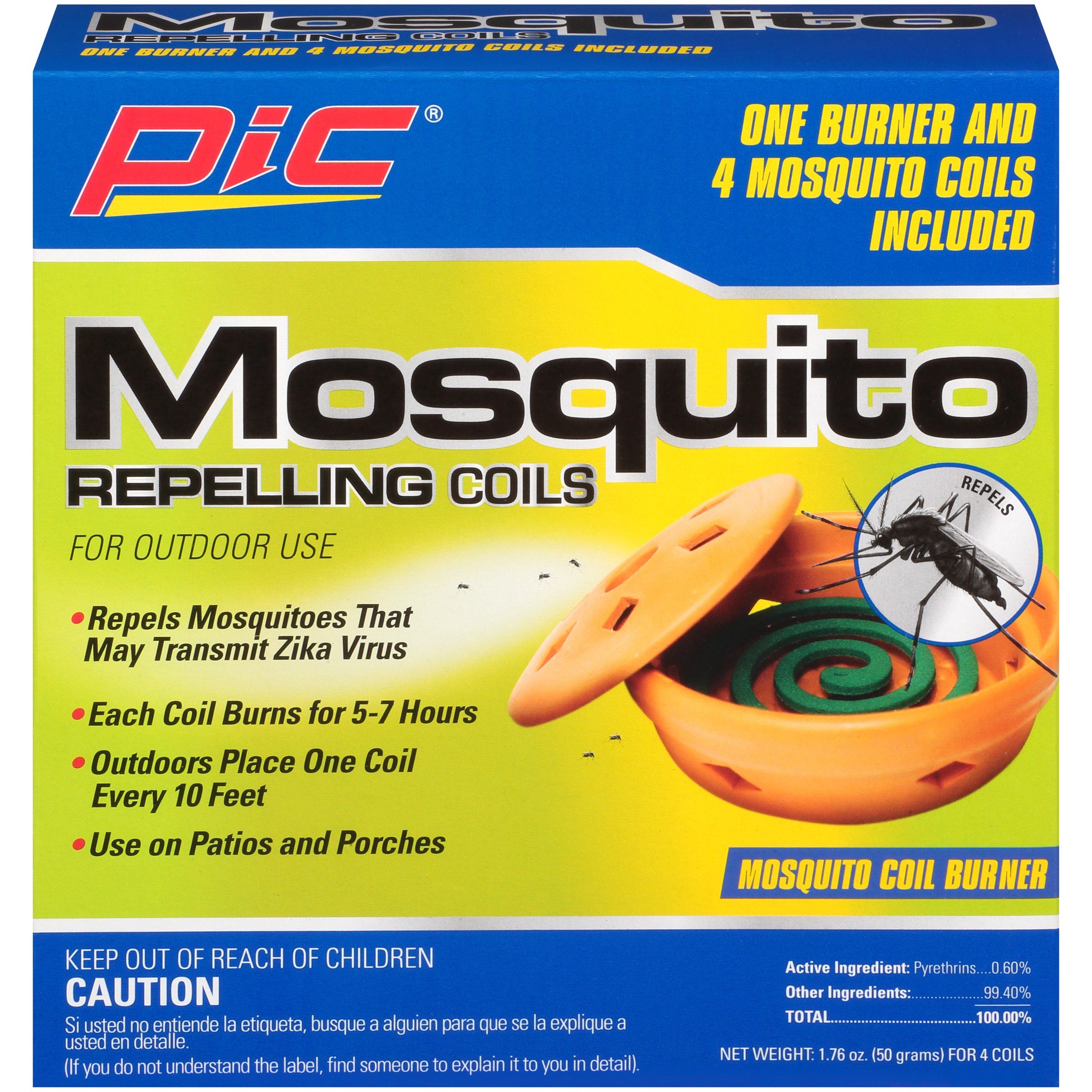 PIC® Mosquito Repelling Burner & Coils 5 pc Box