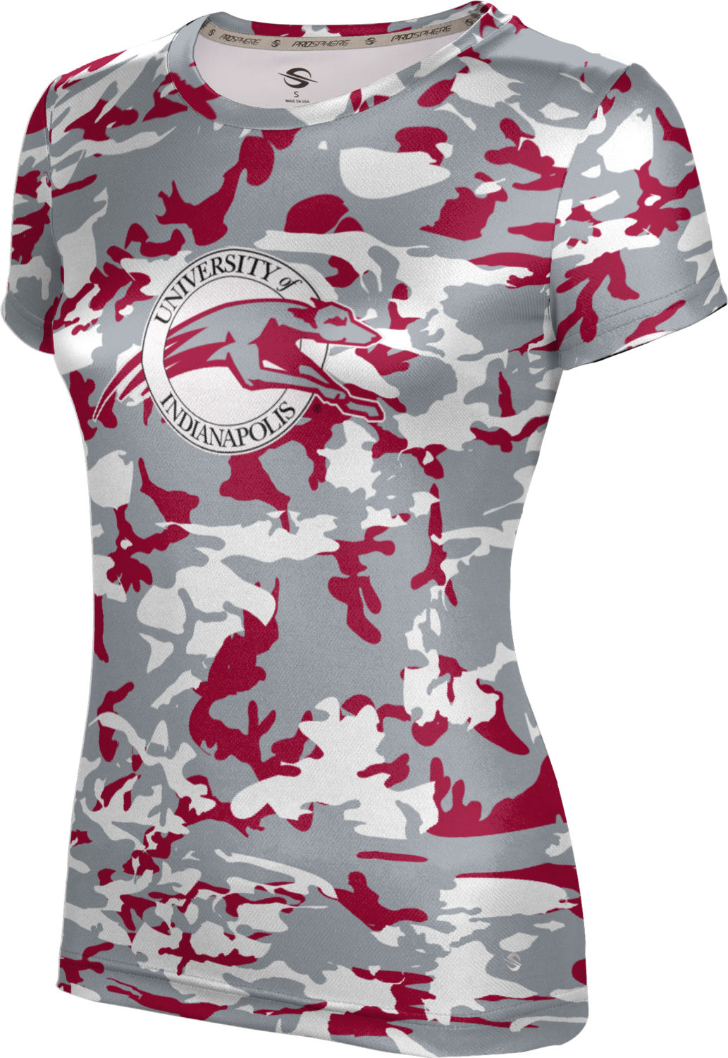 ProSphere Girls' University of Indianapolis Camo Tech Tee