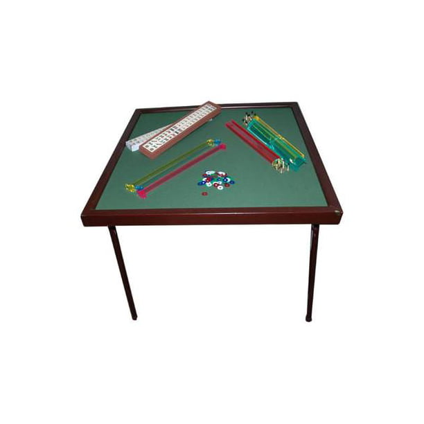 Fold Up Square Family Home Card Game Gaming Table with Green Felt