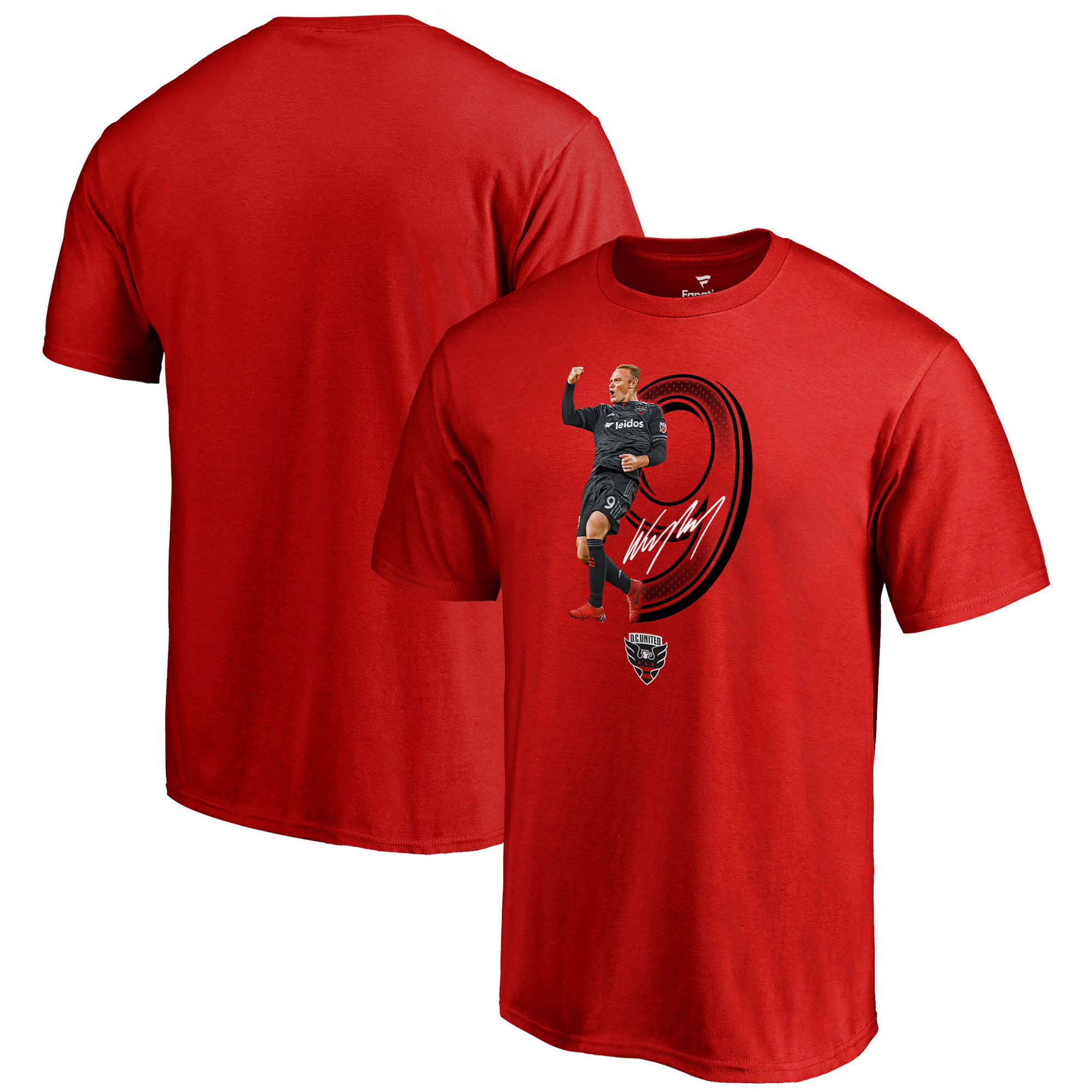 Wayne Rooney D.C. United Fanatics Branded Youth Powerhouse Player T-Shirt - Red