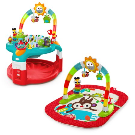 bright starts 2 in 1 silly sunburst activity gym saucer. Black Bedroom Furniture Sets. Home Design Ideas