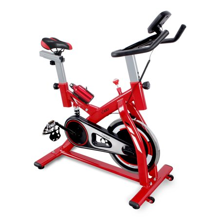 AKONZA Stationary Indoor Bicycle for Home Cardio Exercise Fitness with Heart Pulse Sensors & LCD,