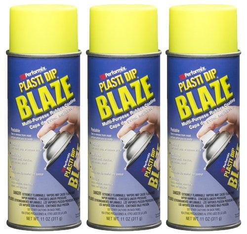 Performix Plasti Dip 11222 Blaze Yellow Rubber Spray 3 PACK