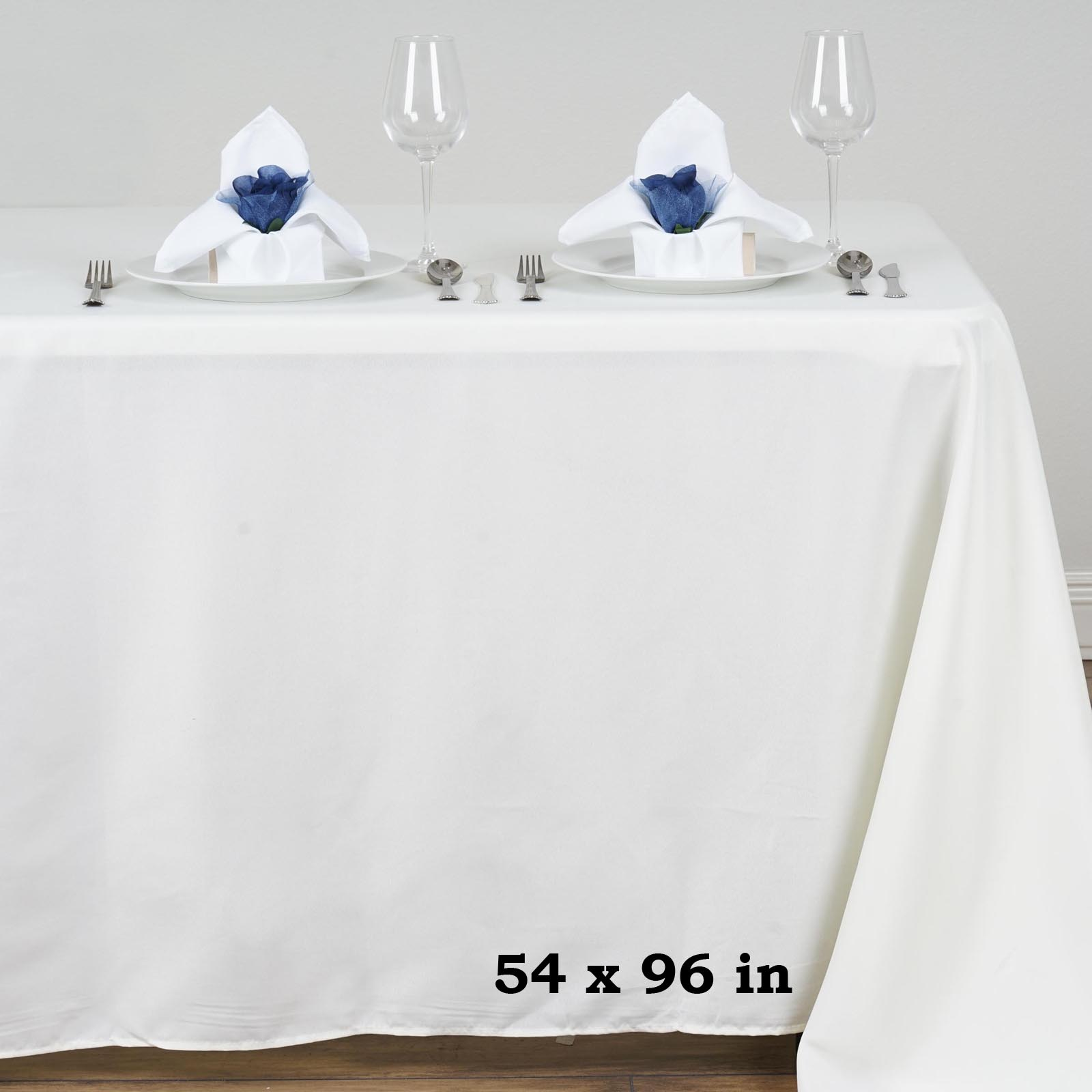 "BalsaCircle 54x96"" Polyester RECTANGULAR Tablecloth Table Linens by"
