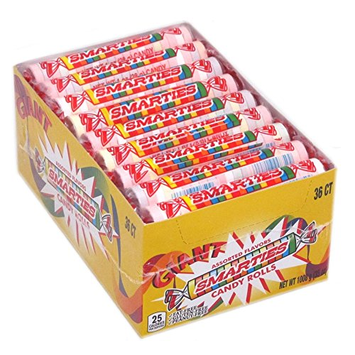 Giant Smarties, 2 Lb, 36 Ct