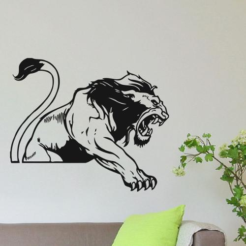 Wild Lion Vinyl Wall Art Decal Sticker