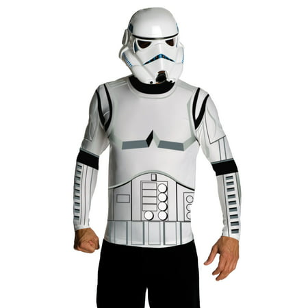 Mens Stormtrooper Top and Mask Set - Snow Stormtrooper Costume