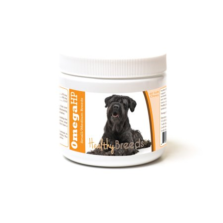 Chi Omega Block - Healthy Breeds Black Russian Terrier Omega HP Fatty Acid Skin and Coat Support Soft Chews