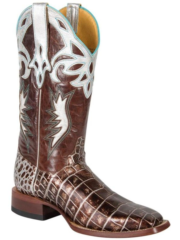 Cinch Womens Cowboy Square Sizzle Crocodile Western Boots by Cinch