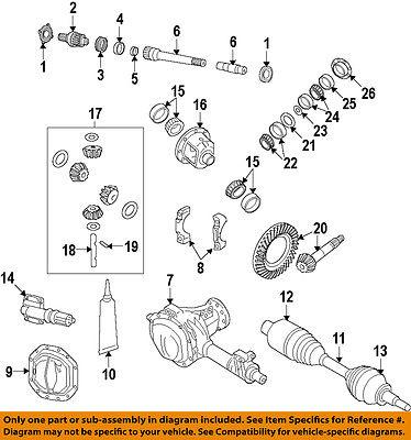 Dodge Ram Front Axle Output Stub Shaft 52114382ae Oem Mopar 06 11