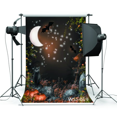 EREHome Polyester Fabric 5x7ft Halloween Horror Nights Series Photography Backdrop Photo Background Studio Prop - image 2 de 2
