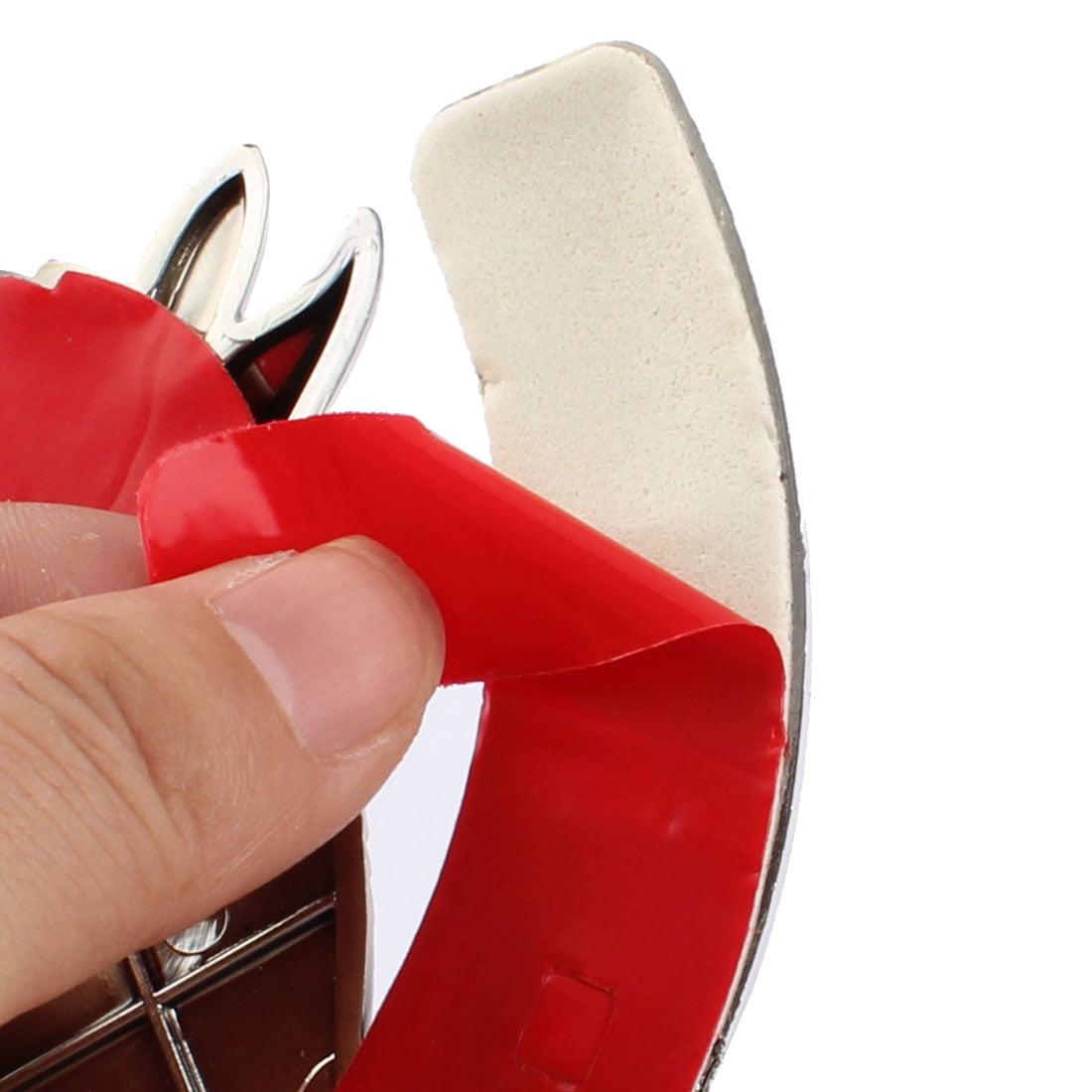 Vehicles Auto Car Plastic Hose Head Design Decal Sticker Silver Tone - image 1 of 2