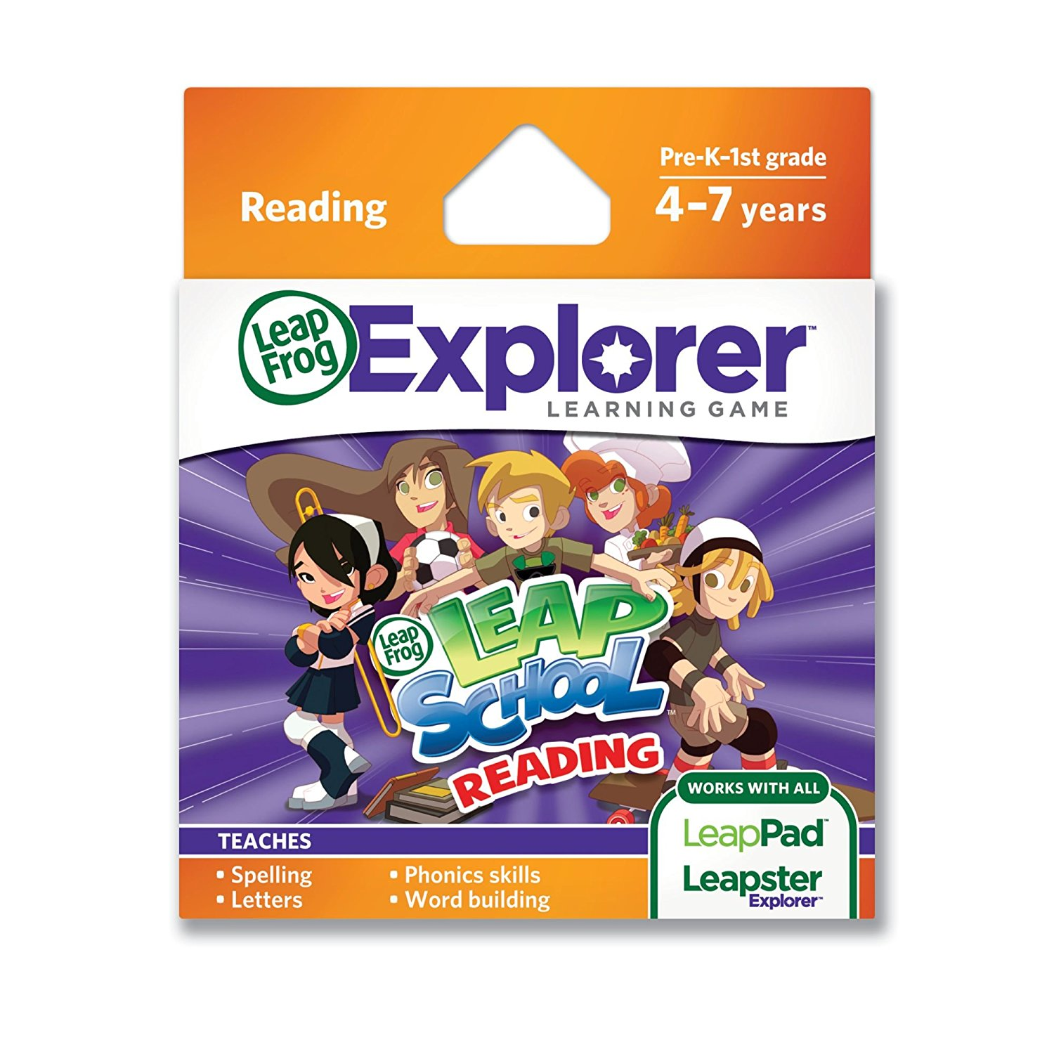 LeapFrog LeapSchool Reading Learning Game (works with LeapPad Tablets, LeapsterGS, and... by