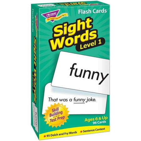 Trend Enterprises T-53017BN Sight Words Flash Cards - Niveau 1 - Paquet de 2 - image 1 de 1