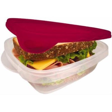 - TakeAlongs 4 Piece Sandwich Keeper Food Container Soft Lid Grips Co 2PK