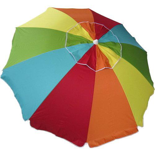 Mainstays 7 5ft Beach Umbrella Walmart