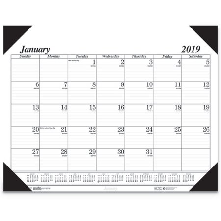 House of Doolittle™ RECYCLED WORKSTATION-SIZE ONE-COLOR MONTHLY DESK PAD CALENDAR, 18 1/2 X 13, (A-glance Monthly Desk Calendar)