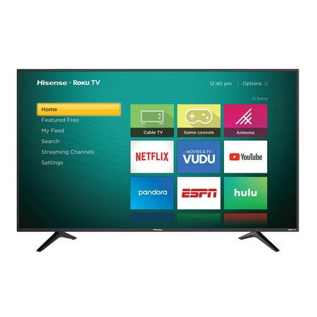 "Refurbished Hisense 43"" Class 4K Ultra HD (2160P) HDR Roku Smart LED TV (43R6E)"