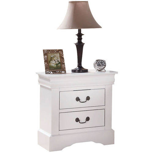 Acme Louis Philippe III 2-Drawer Nightstand in White by Overstock
