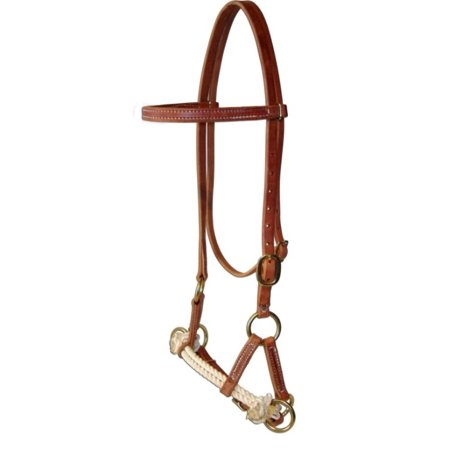 - Amish USA Horse Tack Hermann Oak Leather Double Rope Side Pull 975H4000