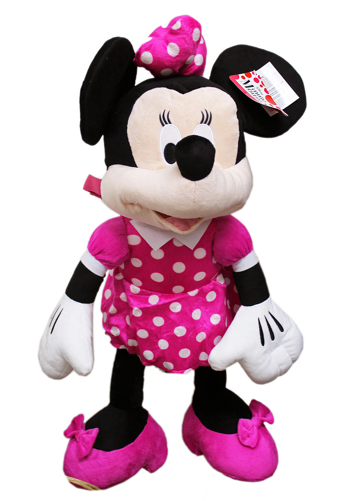 Disney's Minnie Mouse Pink Polka Dot Dress Jumbo Plush Toy (23in) by