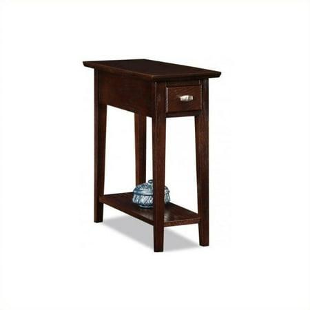 Leick Narrow Chairside Table Chocolate Oak