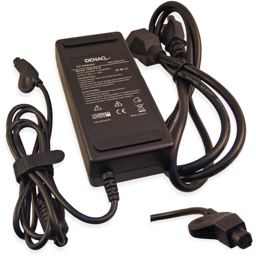 DENAQ 20-Volt 4.5-Amp 3-Pin AC Adapter for Dell Inspiron and Latitude Series Laptops