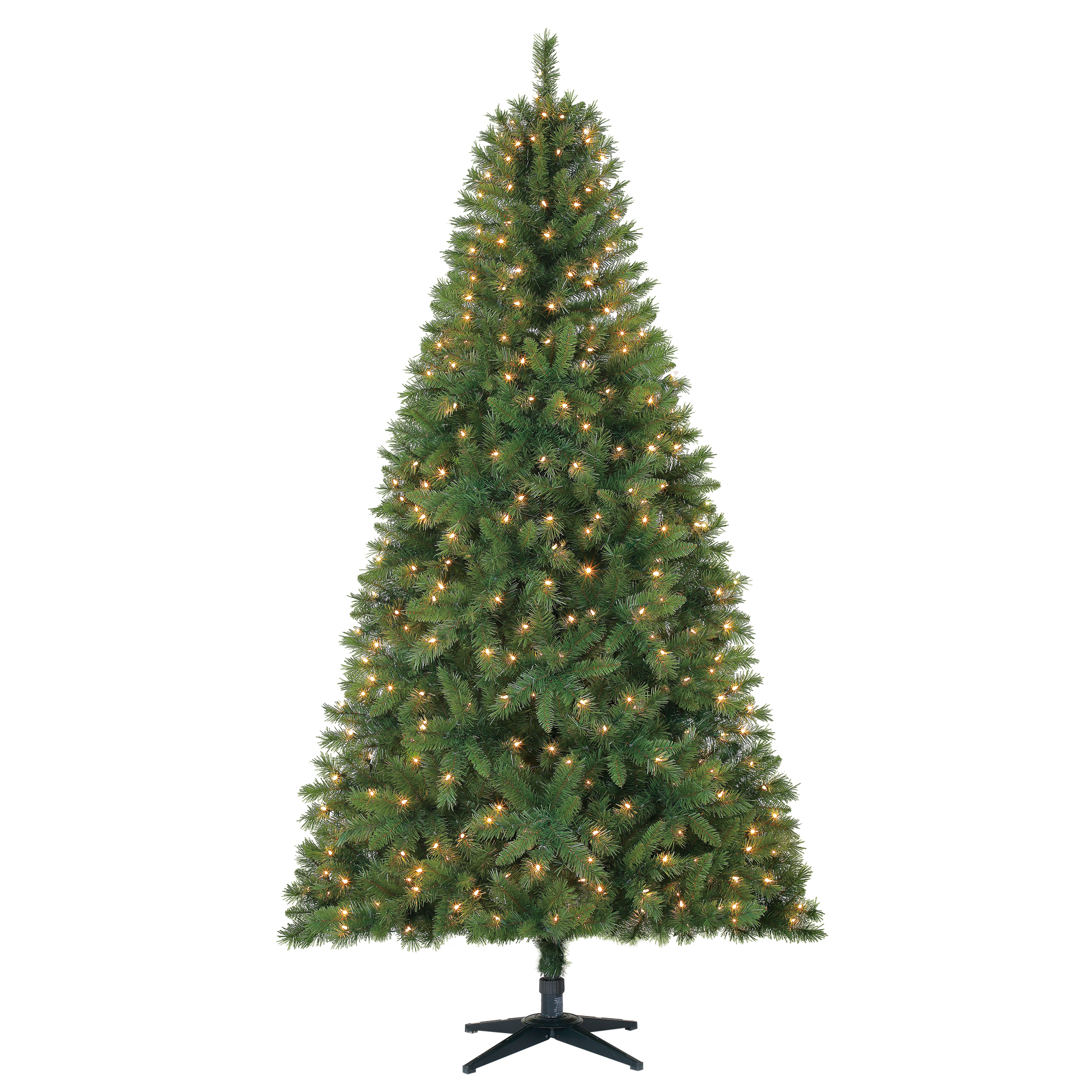 Holiday Time 7.5ft Pre-Lit Kennedy Fir Artificial Christmas Tree with 450 Clear Lights - Green