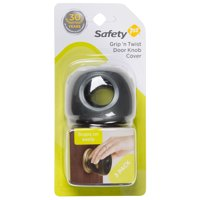 Safety 1st Grip 'n Twist Door Knob Covers (3pk), Charcoal