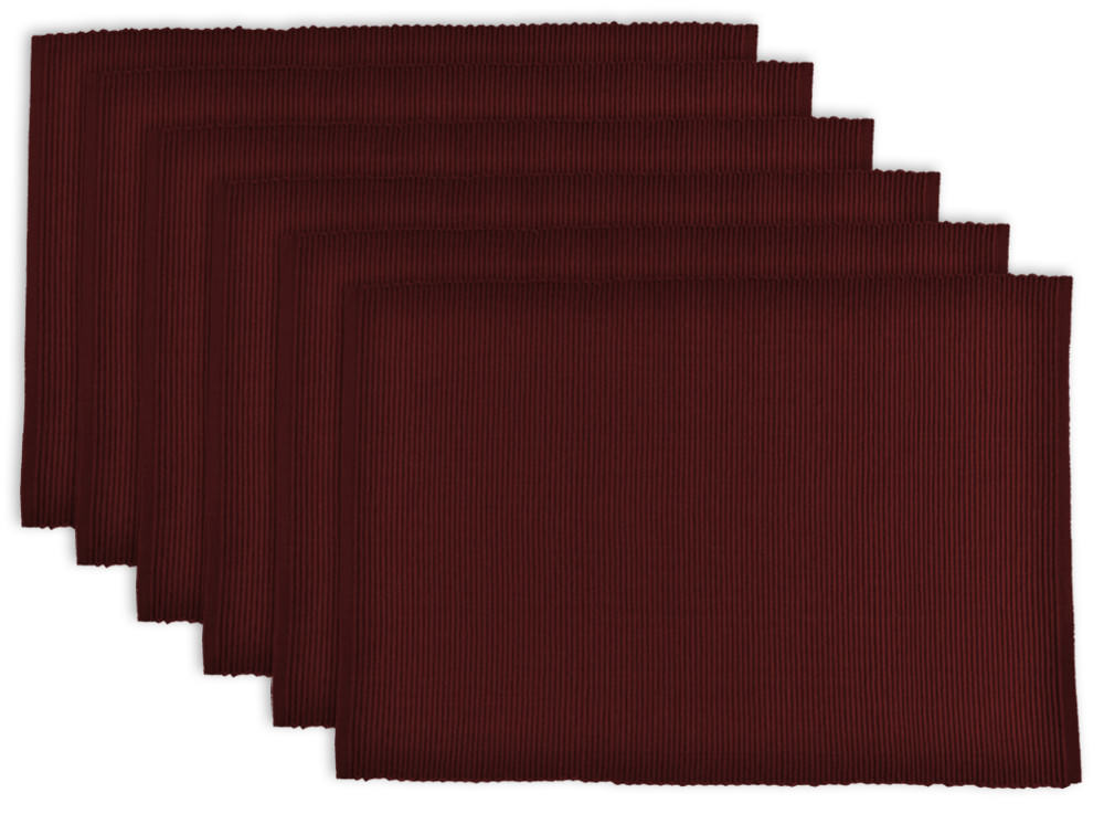 """Design Imports Ribbed Kitchen Placemat Set, Set of 6, 19""""x13\ by Design Imports"""