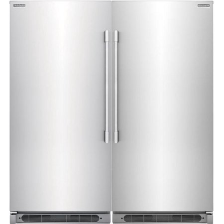 Frigidaire Professional 2 piece Smudge-Proof Stainless Steel Kitchen Appliances Package FPFU19F8RF + FPRU19F8RF 2 Piece Kitchen Appliances Package with FPRU19F8RF 32  Right Hinge Refrigerator and FPFU19F8RF 32  Left Hinge Freezer in Stainless Steel