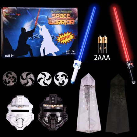 LED Light Up Sword Star Wars Classic Child's Deluxe Costume Jedi Robe Costume Obi-Wan Kenobi Halloween Outfit for Kids 10 PCs,Halloween Toys - Star Wars Outfits