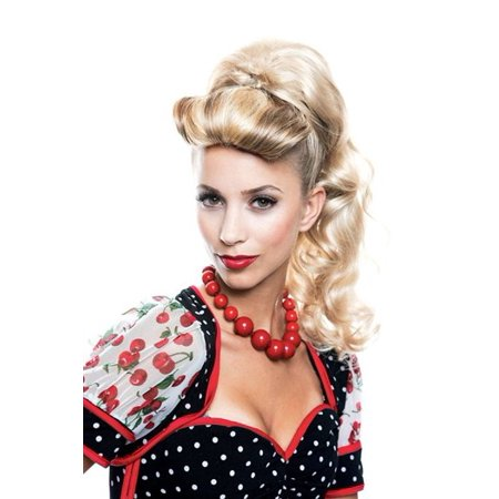 Lexi Blonde French Kiss Ponytail Adult Halloween Accessory
