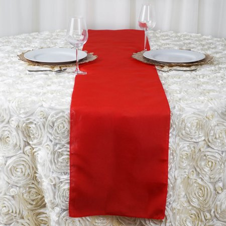 "BalsaCircle 12"" x 108"" Polyester Table Top Runner - Wedding Party Reception Linens Dinner Event Decorations"