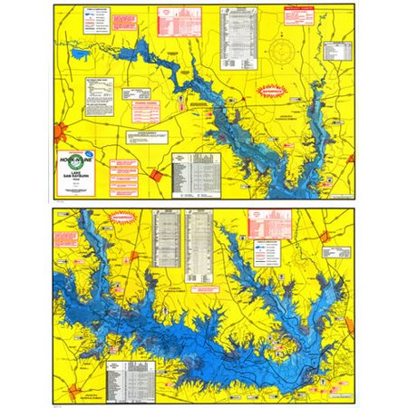 Topographical Fishing Map of Lake Sam Rayburn (Rayburn Reservior) - With GPS