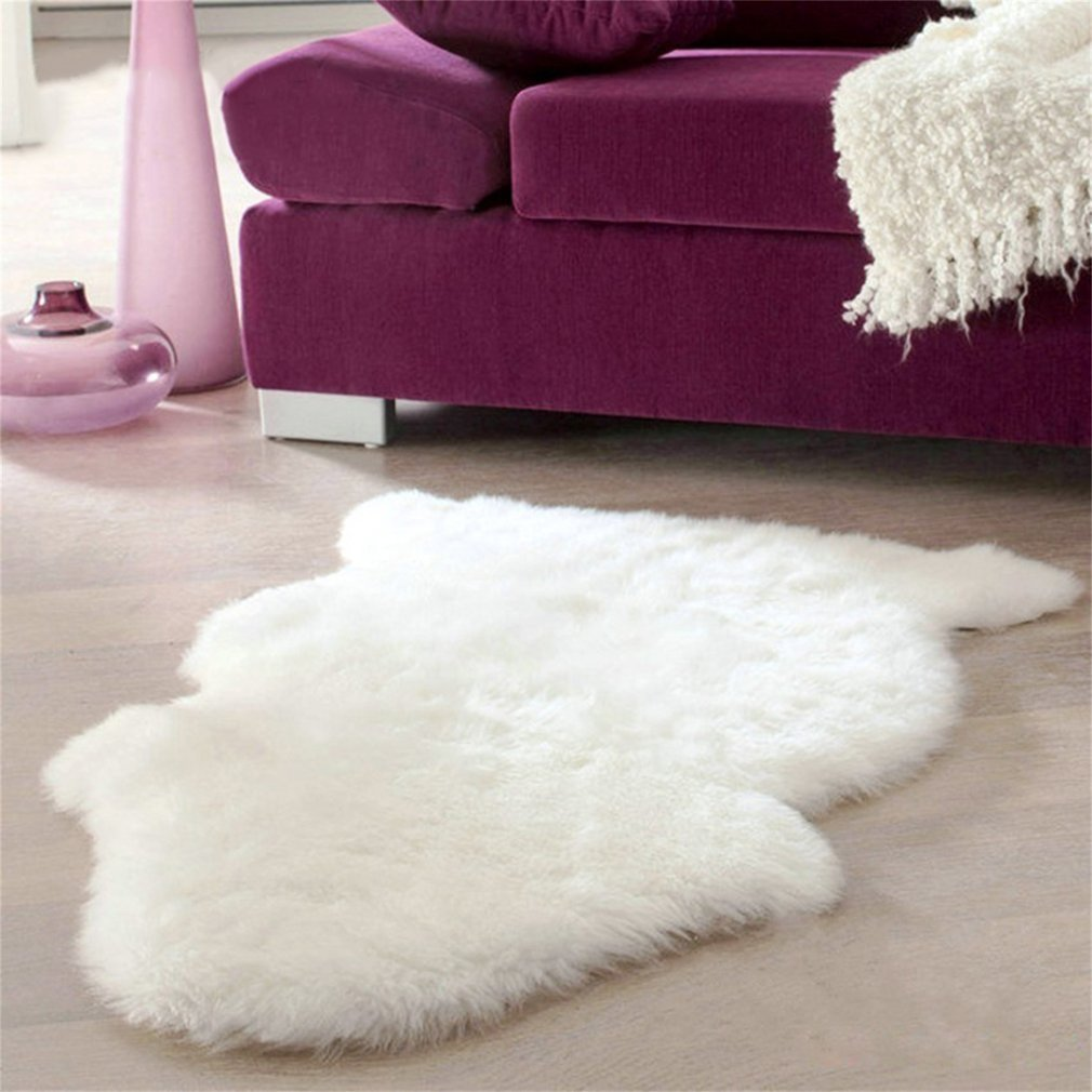Super Soft Faux Sheepskin Sofa Cover Warm Hairy Carpet Seat Pad Fluffy Rugs