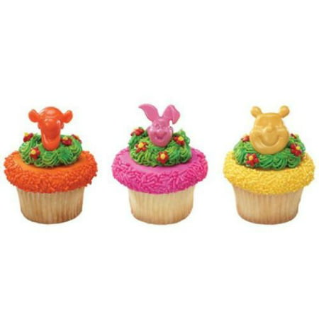 24 Pooh Tigger And Piglet Cupcake Cake Rings Birthday Party Favors Toppers