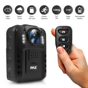 PYLE PPBCM9 - Compact & Portable HD Body Camera, Wireless Person Worn Camera (Audio & Video Recording) Night Vision, Built-in Rechargeable Battery, 16GB Memory