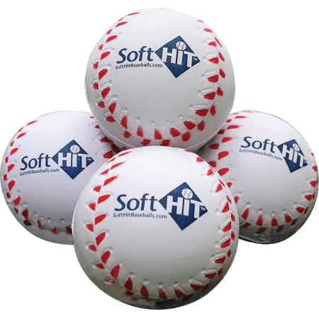 - Soft HIT Seamed Foam Practice Baseballs (Dozen)
