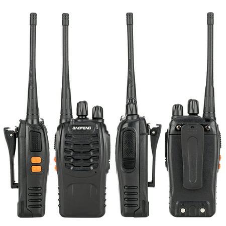 Reactionnx 5W 400-470MHz Walkie Talkies Upgrade Version of BF-888S Two-Way Radio for Hiking Camping - Handheld Walkie Talkie Interphone Black ()