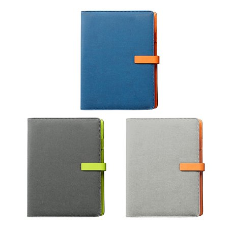 Thick Notebook/Journal with Magnetic Clasp and Pen Loop - Elegant Leather Notebook with Premium Thick Paper and 80 Lined Pages, Ruled, 9.3 x 6.7 in](Notebook And Pen)