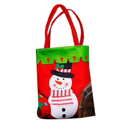 Christmas Gift Bags Santa Claus Candy Sweet Treat Pouch Portable Wedding Sack Present Handbag Xmas Party Home - Trunk Or Treat Decorations